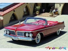 1962 Chrysler Imperial Crown Convertible #dodgevintagecars