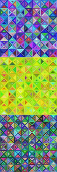 Vector designs - Color abstract triangle mosaic background collection (EPS + JPG)