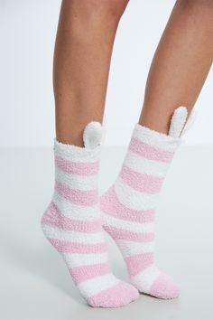 Elvira chenille sukat Vaaleanpunainen