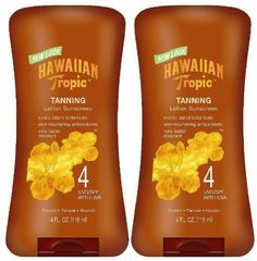HAW TROPIC DARK TAN LOT SPF-4 Size: 4 OZ by PLAYTEX FAMILY PRODUCTS. $7.43. Hawaiian Tropic Dark Tanning Lotion with SPF 4 SunscreenA warm sun, island breezes, luxuriant oils. Indulge in the sun and keep your skin is soft and radiant.Features Original formula Exotic island. HAW TROPIC DARK TAN LOT SPF-4 Size: 4 OZ
