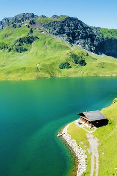 Lake Lucerne in Melchsee-Frutt, Switzerland