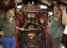 Locomotive drivers in the cab, Rovos Rail, South Africa South African Railways, Steam Locomotive, Museum, Trains, Pictures, Apple Pin, Diesel, Engine, Steampunk