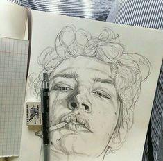 Академический рисунок portrait pencil drawings in 2019 skizzen zeichnen, ze Drawing Sketches, Pencil Drawings, Art Drawings, Drawing Ideas, Pencil Art, Drawing Tips, Sketching, Illustration Art Nouveau, Arte Sketchbook