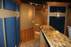 DH Custom Home, home theater bar in Chesterfield, MO
