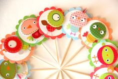 Funny Birds - Cupcake Toppers jigsaw puzzle in Handmade puzzles on TheJigsawPuzzles.com