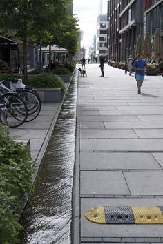 Some of the Most Common Landscape Design Features Oslo, Urban Landscape, Landscape Design, Water Management, Fjord, Rain Garden, Water Element, Traditional Landscape, Urban Planning