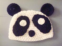 Crochet Panda Baby Beanie