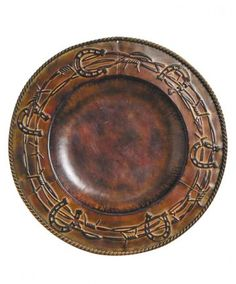 Horseshoes and Barbed Wire Western Charger Plate - Kitchen & Dining - Housewares