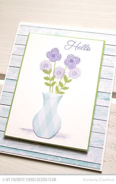 For the Love of Paper: MFT Stamps Beautiful Blooms Card Kit