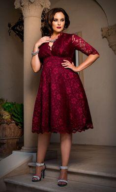 Mademoiselle Lace Dress - Plus Size Women's Dresses, Party Dresses With Sleeves, Plus Size Party Dresses, Dress Plus Size, Plus Size Outfits, Cute Dresses, Plus Size Fashion Dresses, Dress Fashion, Evening Dresses
