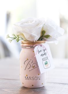 Mother's Day Memories - It All Started With Paint Mason Jar Gifts, Mason Jar Diy, Diy Craft Projects, Craft Tutorials, Led Diy, Types Of Craft, Jar Crafts, Memorable Gifts, How To Memorize Things