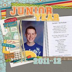 idea for a high school scrapbook page.