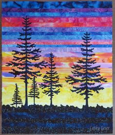 Cathy Geier's Quilty Art Blog: strip applique