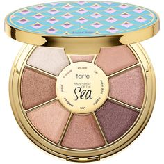 Rainforest Of The Sea Highlighting Eyeshadow Palette Vol. III tarte (47 AUD) ❤ liked on Polyvore featuring beauty products, makeup, eye makeup, eyeshadow, beauty, tarte, palette eyeshadow and tarte eyeshadow