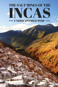 The salt mines of the Inca can be found near the town of Maras in Peru. Hardly…