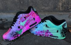 Original Nike Air Max 90 painted as Seen in the pics. Painted with acrylic  Leather colours that will Last forerver on the shoes. Handpainted and  exclusive. d52e43d4e1