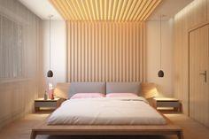 Delicieux #Schlafzimmer 30 Ideen Für Moderne Schlafzimmergestaltung Mit Lamellenwand # 30 #Ideen #für #