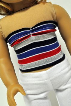 American Girl Doll Clothes Fourth of July Bandeau by CircleCSewing, $5.50