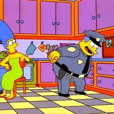The Simpsons Police gif #thesimpsons #police https://instagram.com/p/4dAT6gzeQg/