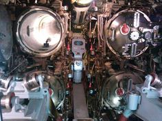 Bow torpedo room of USS Becuna (SS-319)