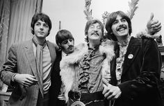 Beatles at Apple HQ about the time of Magical Mystery Tour. Photog: John Downing/Getty Images