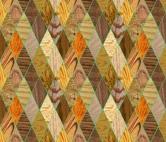 Wood Diamonds fabric by lauredesigns on Spoonflower - custom fabric