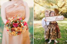 little ones-look at that amazing dress that the flower girl is wearing - yummy!  Flowers are also amazing