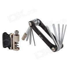 SOURCE TWZH5 Handy Multifunctional Repairing Tool Kit for Bicycle - Black   Silver Price: $17.80