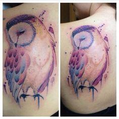 5. owl - 45 #tatouages aquarelles #incroyables... → #Beauty