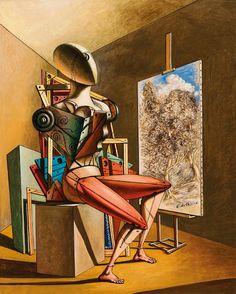 Surrealism and Visionary art: Giorgio de Chirico Italian Painters, Italian Artist, Max Ernst, Modern Art, Contemporary Art, Art Sculpture, Rene Magritte, Traditional Paintings, Visionary Art