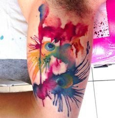 Watercolor style tattoos are gorgeous: these are the 30 most unique and innovative designs i've ever seen - Blog of Francesco Mugnai