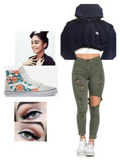 palm by lexiechambers101 on Polyvore featuring polyvore adidas Vans fashion style clothing