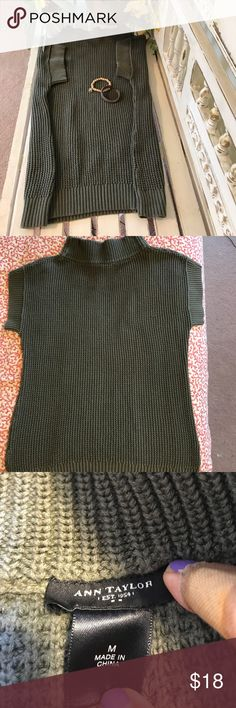 "Ann Taylor 100% Cotton Sweater Great for those offices with too much A/C! EUC measures 20"" under arms and 27"" long Ann Taylor Sweaters"