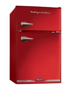 Nostalgia Electrics RRF325HNRED Retro Series 3.1-Cubic Feet Compact Refrigerator Freezer, Red Nostalgia Electrics,http://www.amazon.com/dp/B0096NS9OQ/ref=cm_sw_r_pi_dp_xthYsb0ME4VEDZ6H