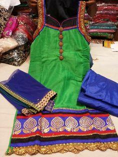 ❤️beautiful party wear punjabi suit . visit us www.facebook.com/... for purchase query whatsapp +917696747289 Pinterest : @Nivetas Design Studio Design Studio