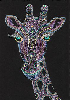 Face of the giraffe