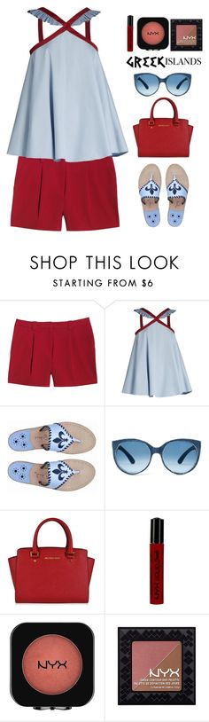 """pack and go.."" by hellowaffles ❤ liked on Polyvore featuring Canvas by Lands' End, Anna October, MICHAEL Michael Kors, NYX, Packandgo and greekislands"