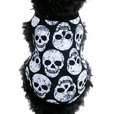 kaifongfu sales,Pet Puppy Small Dog Pet Clothes Skull T-Shirt Apparel Clothes (S, White) ** Check this awesome image @
