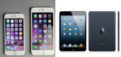 Phablet kategorisinde yer alan iPhone 6 piyasada en çok satışı olması iPad satışlarını düşüşe uğrattı !