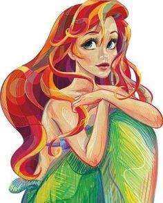 disney princess Ideas drawing cartoon disney characters little mermaids Disney Pixar, Cartoon Disney, Film Disney, Arte Disney, Disney And Dreamworks, Disney Characters, Punk Disney, Disney Villains, Disney Princess Drawings