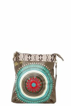 Desigual women's New Bag Flecos bag. Each season we try to offer you new bags, and this season we're bringing you this ethnic-inspired line with a die-cut print.