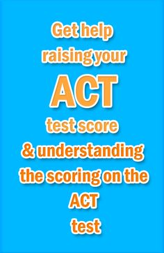 The American College Test (ACT) measures your readiness for college entrance, and it consists of four required sections: English, math, reading, and science reasoning. If you're studying to take the ACT exam for entrance into college, click here on how to get help to raise your ACT score and to understand the scoring on the ACT exam. #act