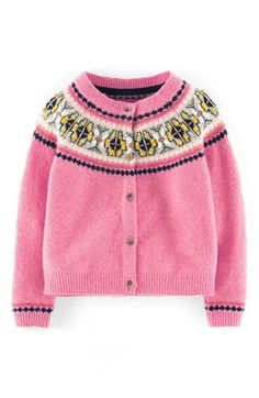 Mini Boden 'Fair Isle' Cardigan (Toddler Girls, Little Girls & Big Girls) available at #Nordstrom