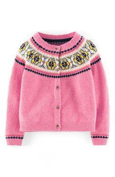 Mini Boden 'Fair Isle' Cardigan (Toddler Girls, Little Girls & Big Girls) available at #Nordstrom