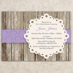 Change color to coral, of course ;)  Rustic Bridal Shower Invitation - Vintage Bridal Shower Invite - Baby Shower Invitation - Rustic Tea Party Invitation - DIY Printable JPEG on Etsy, $20.00