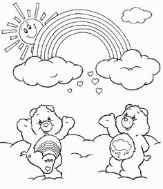 Bisounours  Coloring Pages  Pinterest  Care bears and Bears
