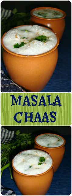 Masala Chaas or spiced buttermilk is a great appetizer, made by combining yogurt with green chilies, coriander leaves and other spices. Veg Recipes, Summer Recipes, Indian Food Recipes, Vegetarian Recipes, Dessert Recipes, Cooking Recipes, Yogurt Recipes, Drink Recipes, Healthy Smoothies