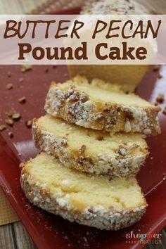Scrumptious Butter Pecan Pound Cake Recipe - http://shopperstrategy.com/2015/11/09/scrumptious-butter-pecan-pound-cake-recipe/ #baking #pecanrecipe #holidaybaking