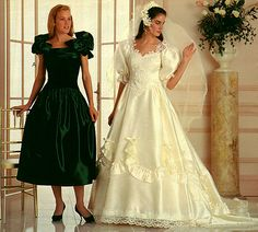 """From the Web site """"Sylvia Aster's Bridal Parlor"""" Bridal Dresses, Girls Dresses, Flower Girl Dresses, Bridesmaid Dresses, Satin Dresses, Prom Dress, Couple Wedding Dress, Wedding Dress With Veil, Wedding Gowns"""