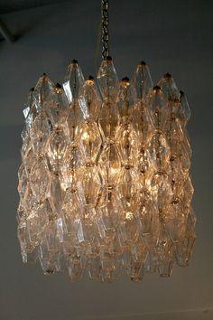 Venini Carlo Scarpa Polyhedral chandelier